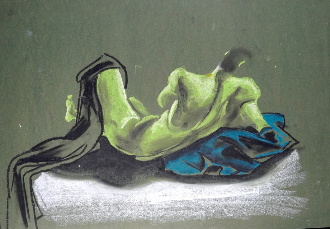 256 - Green Male Reclined, 1999