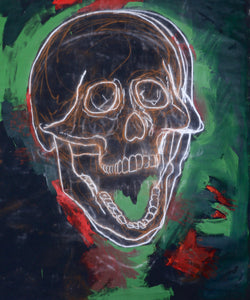 316 - Skull in Green with Red