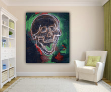 Load image into Gallery viewer, 316 - Skull in Green with Red