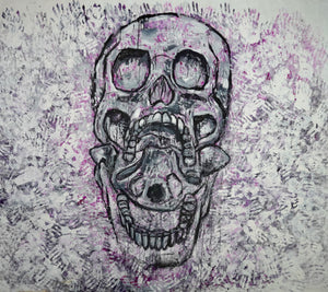 345 - Open Mouth Skull with Hands