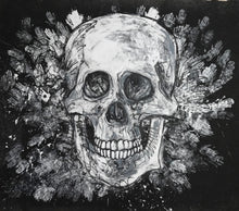 Load image into Gallery viewer, 365 - Large B&W Skull with Hands, 2018