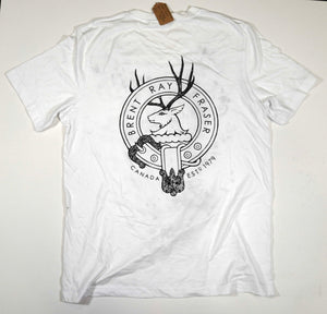White v-neck mens fitted T-shirt