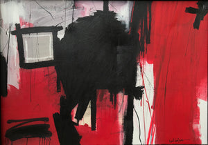 Red and Black Abstract, 2014