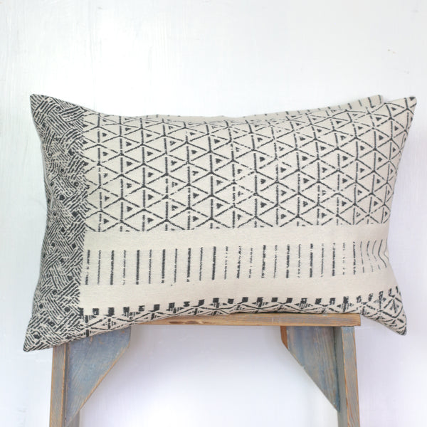 Woven Black and White Pillows (pair)