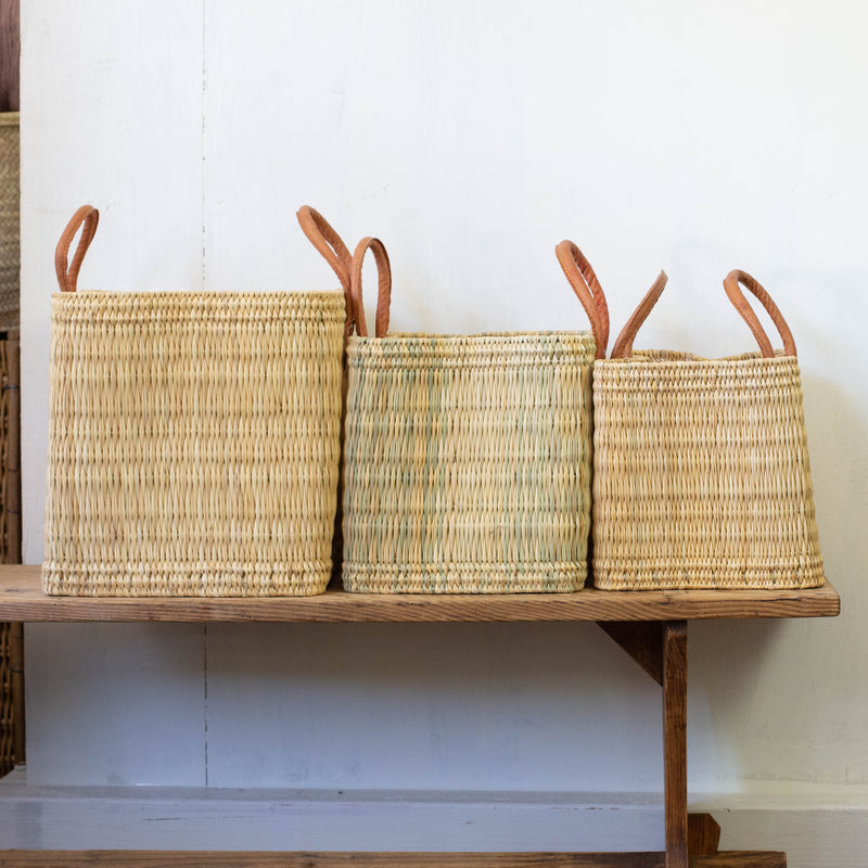 Set of Standing Moroccan Baskets