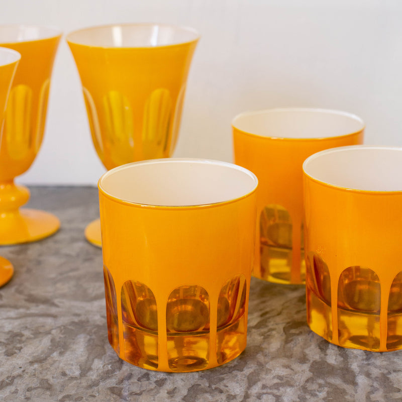 Old Fashioned Piazza Glasses-Set of 2