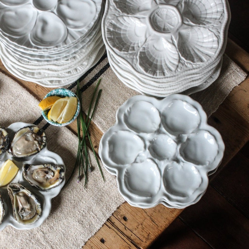 Vintage French Oyster Plates