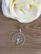Load image into Gallery viewer, Tree of Life Pendant - Sterling Silver Large Round