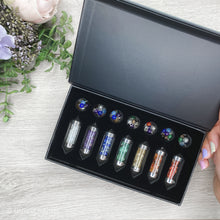 Load image into Gallery viewer, 7 Chakra Pendulums Boxed Gift Set - Gina's Charms