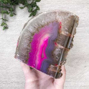 Agate Candle Holder - Pink #1902 - Gina's Charms