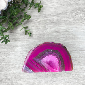Agate Cave Geode - Pink #1944 - Gina's Charms