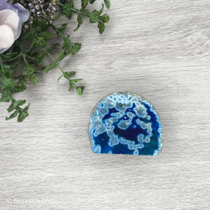 Agate End - Blue #1912 A-Grade - Gina's Charms