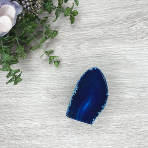 Agate End - Blue #1914 A-Grade - Gina's Charms