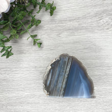 Load image into Gallery viewer, Agate End - Grey #1949 - Gina's Charms