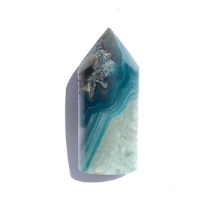 Agate Core Cylinder #882 - Teal