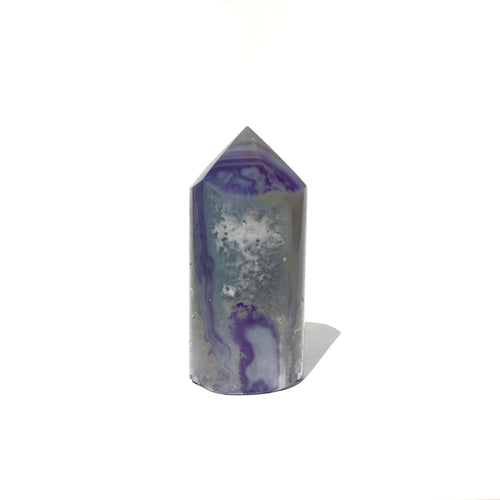 Agate Core Cylinder #724 - Purple