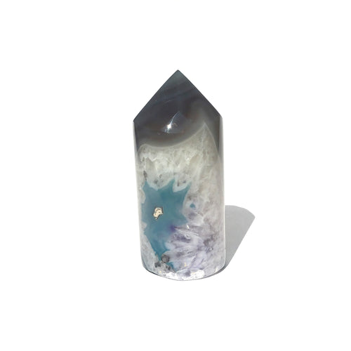Agate Core Cylinder #725 - Blue Purple