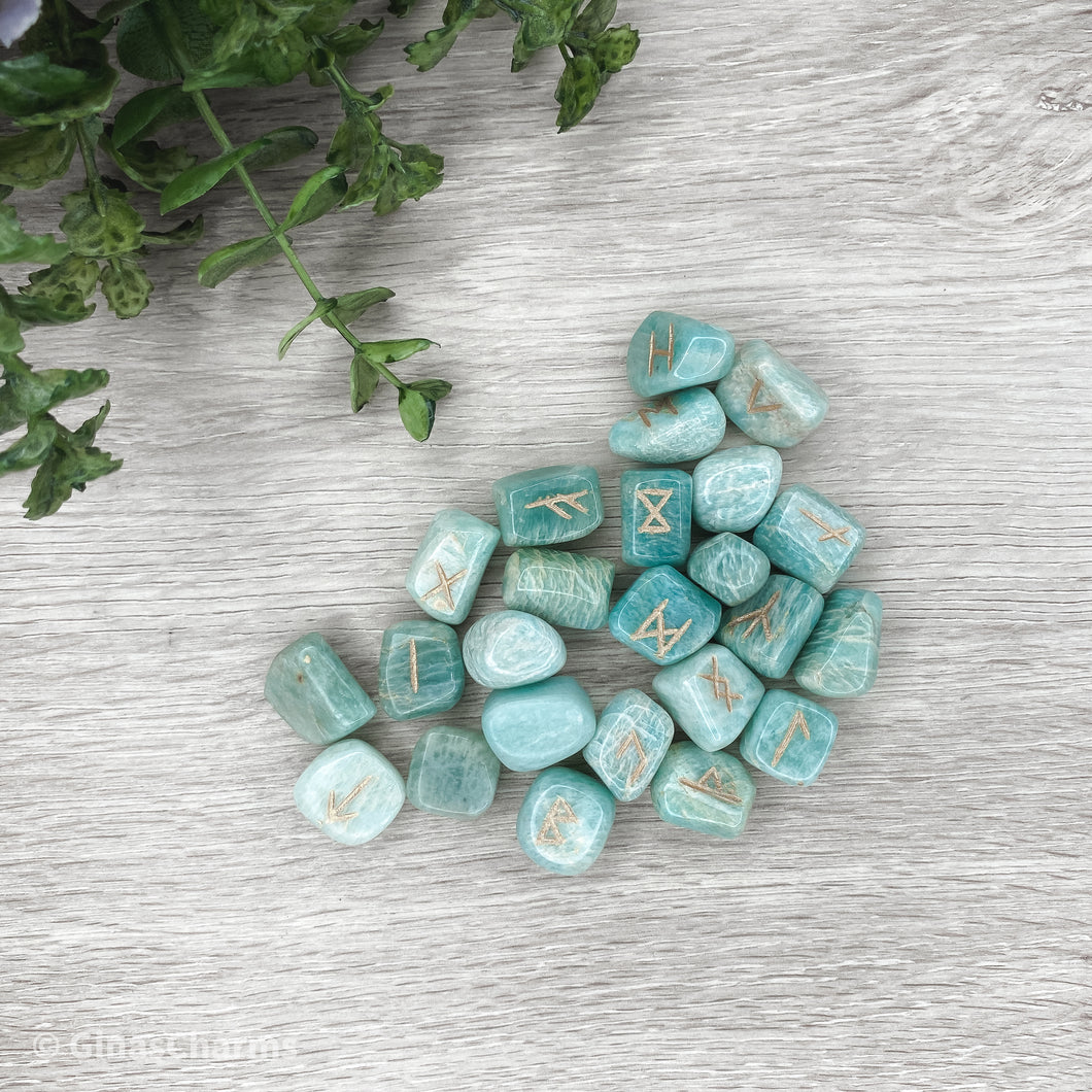 Amazonite Runes - Gina's Charms