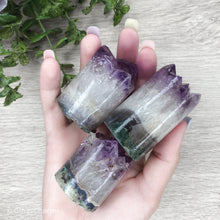 Load image into Gallery viewer, Amethyst Core Cluster Cylinder - Gina's Charms