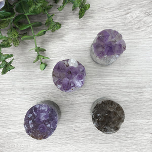 Amethyst Core Cluster Cylinder - Gina's Charms