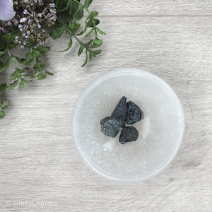 Black Tourmaline with Mica - Rough Chunks - Gina's Charms