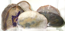 Load image into Gallery viewer, Agate Crystal Bookends - Purple #523