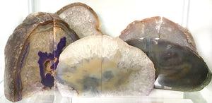 Agate Crystal Bookends - Purple #523