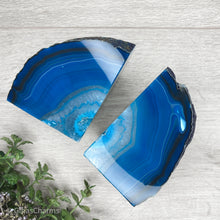 Load image into Gallery viewer, Agate Crystal Bookends - Blue #1961 - Gina's Charms