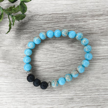 Load image into Gallery viewer, Custom Made Lava Bracelets for Essential Oils - Gina's Charms