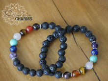 Load image into Gallery viewer, CHAKRA Lava Bracelets for Essential Oils - Gina's Charms