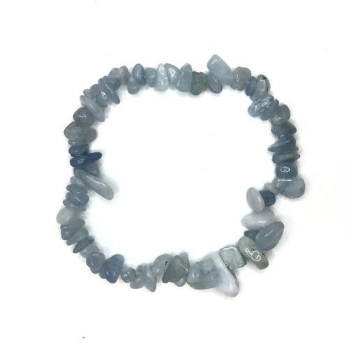 Aquamarine Gemstone Chips Bracelet