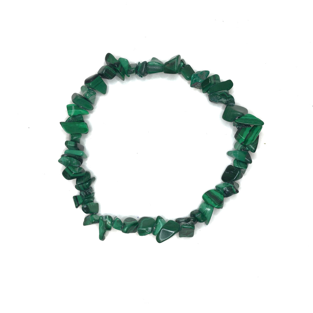 Malachite Gemstone Chips Bracelet