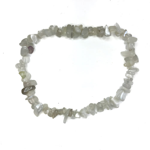 Moonstone Gemstone Chips Bracelet - Gina's Charms