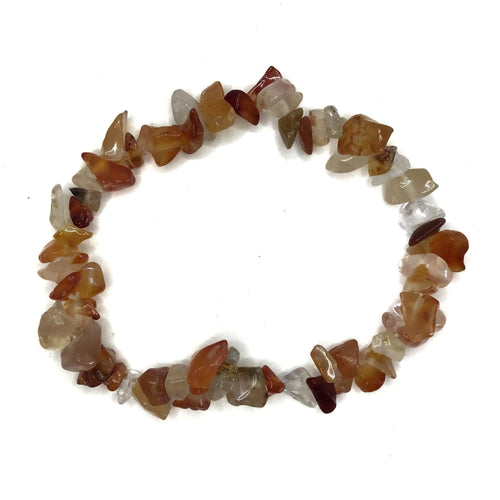Agate Gemstone Chips Bracelet