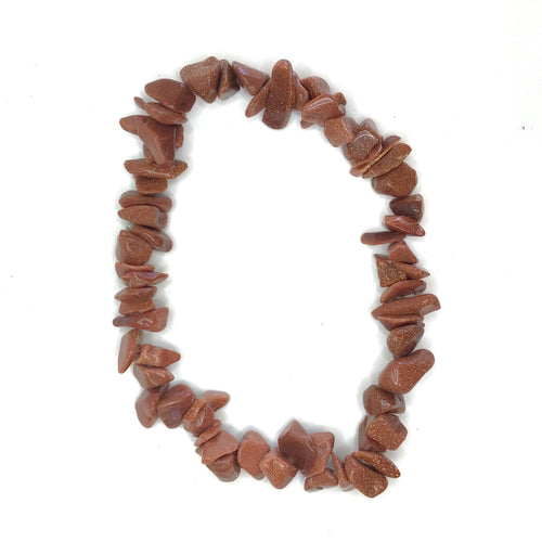 Red Goldstone Gemstone Chips Bracelet