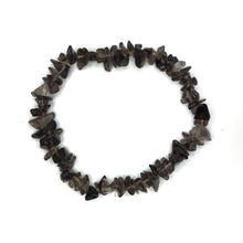 Load image into Gallery viewer, Smoky Quartz Gemstone Chips Bracelet