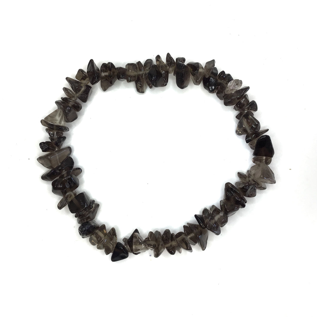 Smoky Quartz Gemstone Chips Bracelet