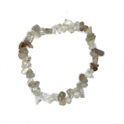 Yellow Rutilated Quartz Gemstone Chips Bracelet - Gina's Charms