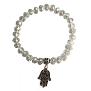 Clear Crystal Protection Charm Bracelet - Gina's Charms