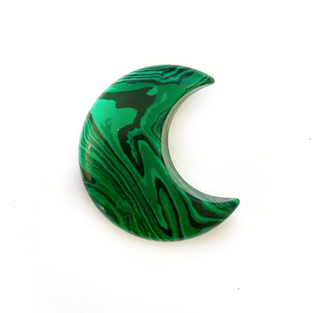 Crescent Moon - Malachite
