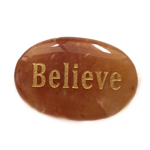 Crystal - Wordstone - BELIEVE - Peach Aventurine