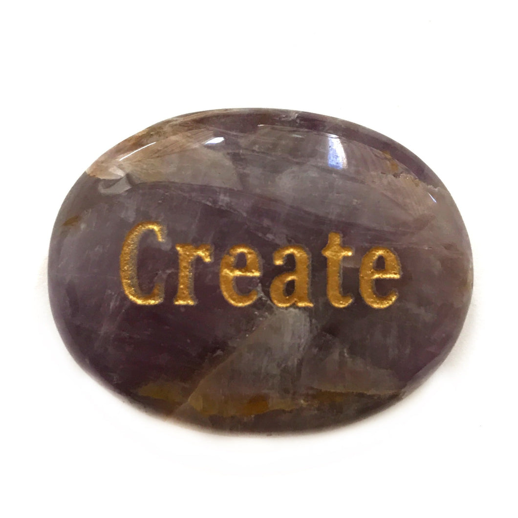 Crystal - Wordstone - CREATE - Amethyst - Gina's Charms