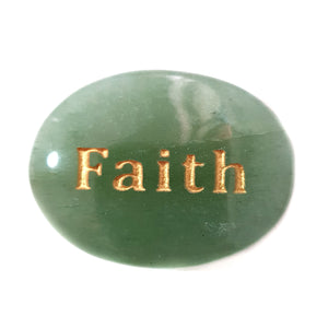 Crystal - Wordstone - FAITH - Green Aventurine