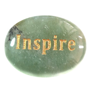 Crystal - Wordstone - INSPIRE - Green Aventurine - Gina's Charms