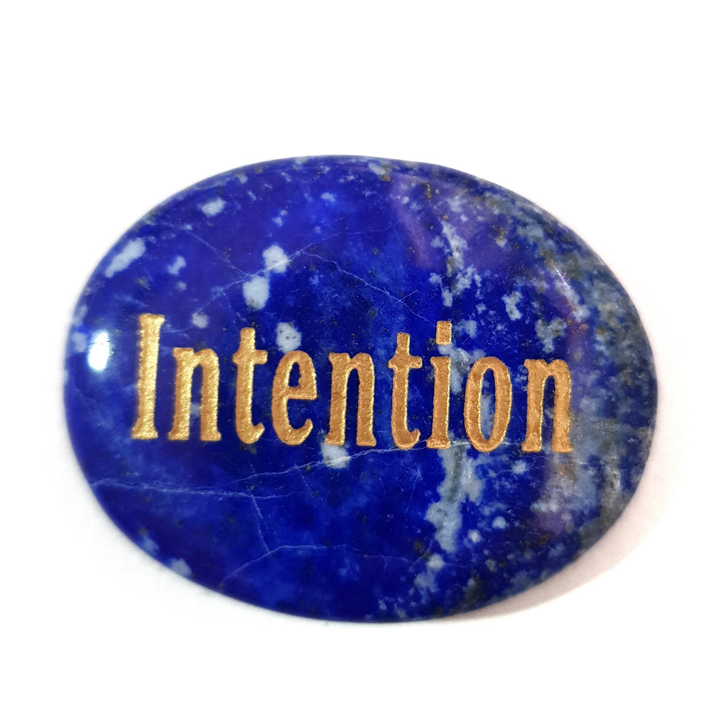Crystal - Wordstone - INTENTION - Lapis Lazuli