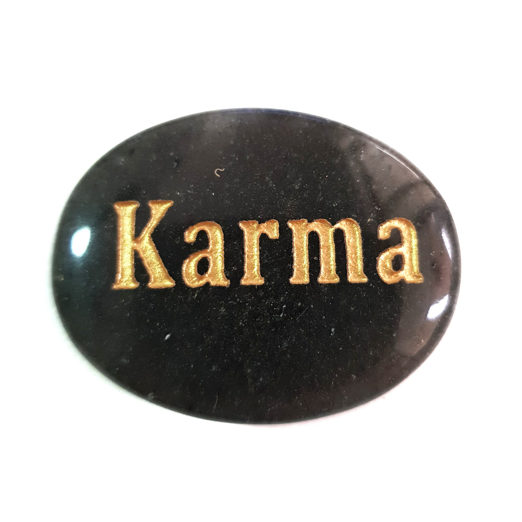 Crystal - Wordstone - KARMA - Grey Aventurine - Gina's Charms