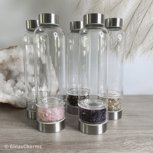 Crystal Chips Water Bottle - Gina's Charms