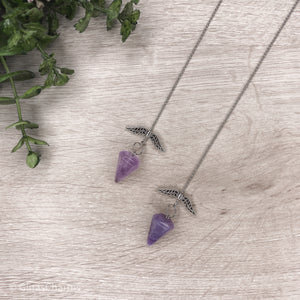 Crystal Pendulum - Amethyst Point - Gina's Charms