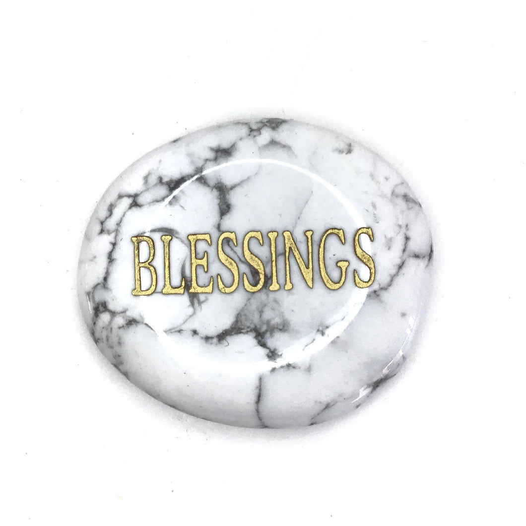 Crystal - Wordstone - BLESSINGS - Howlite