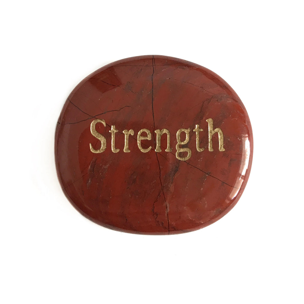 Crystal - Wordstone - STRENGTH - Red Jasper